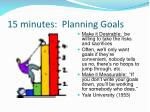 15 minutes planning goals1