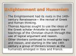 enlightenment and humanism
