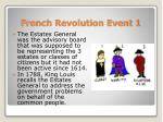 french revolution event 1