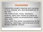 humanists