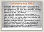 inclosure act 1801
