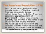 the american revolution 1776