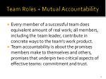 team roles mutual accountability