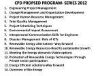 cpd propsed program series 2012