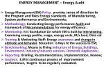 energy management energy audit
