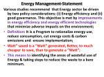 energy management statement