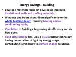 energy savings building