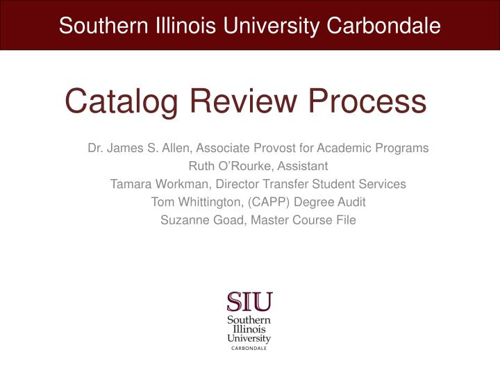 catalog review process n.