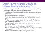 dream journal analysis dreams as leftover remnants from your day