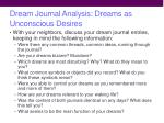 dream journal analysis dreams as unconscious desires