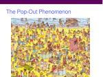 the pop out phenomenon1