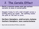 2 the coriolis effect