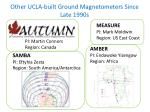 other ucla built ground magnetometers s ince late 1990s