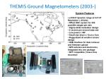 themis ground magnetometers 2003