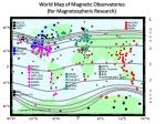 world map of magnetic observatories for magnetospheric research