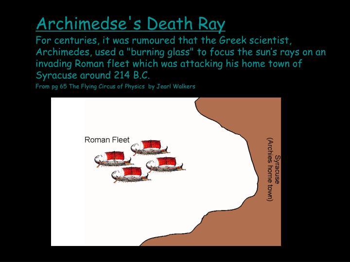 Archimedse's Death Ray