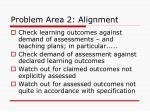 problem area 2 alignment