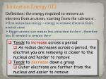 ionization energy ie