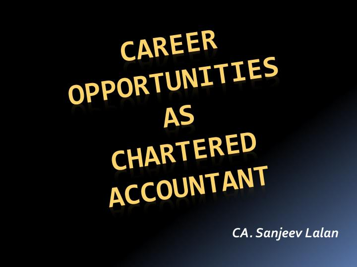 career oppo r tunities as chartered accountant n.