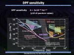dpf sensitivity1
