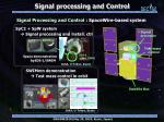 signal processing and control