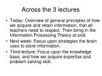 across the 3 lectures