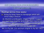 information processing three lectures
