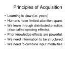 principles of acquisition