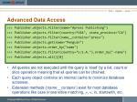 advanced data access