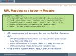 url mapping as a security measure