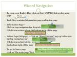 wizard navigation