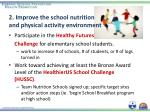 2 improve the school nutrition and physical activity environment