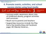 4 promote events activities and school success stories using local media