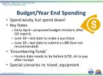 budget year end spending