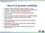 key k 12 grantee activities