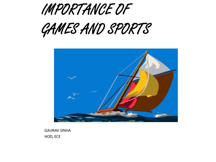 importance of games and sports n.