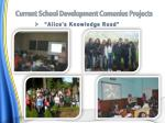 current school development comenius projects