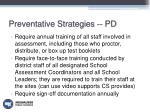 preventative strategies pd