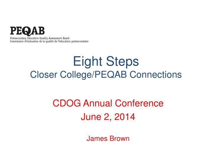 eight steps closer college peqab connections n.