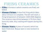 firing ceramics