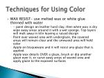 techniques for using color2