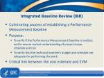 integrated baseline review ibr
