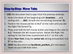 step by step move tabs