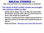 biblical evidence for the coexistence of dinosaurs humans