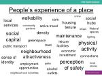 people s experience of a place