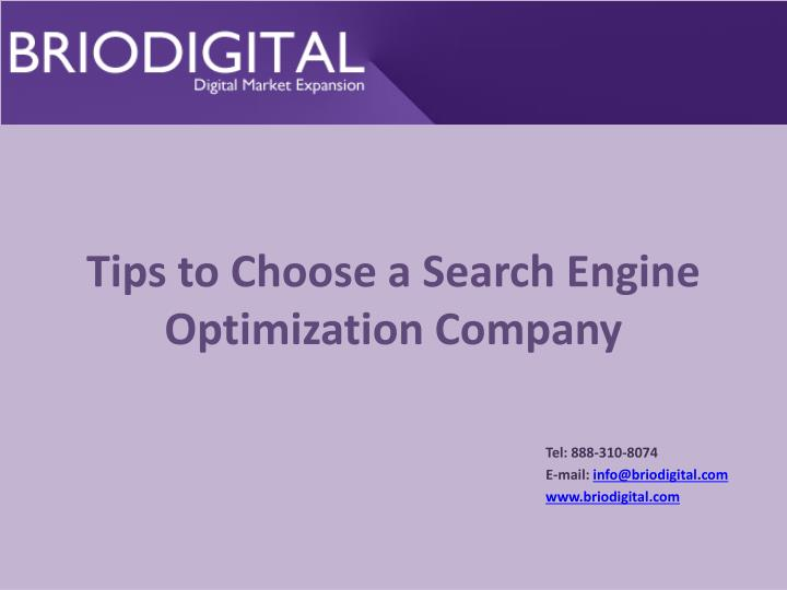 tips to choose a search engine optimization company n.