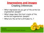 impressions and images creating inferences