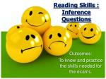 reading skills inference questions