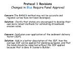 protocol 1 revisions changes in blue require panel approval
