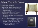 major texts books